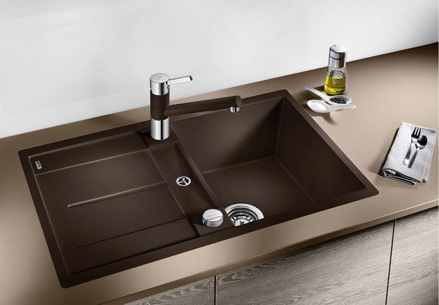 blancometra 45 s f silgranit fl chenb ndig oder blanco. Black Bedroom Furniture Sets. Home Design Ideas